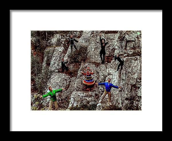 Folk Group Framed Print featuring the photograph Ural's Folk Group by Vladimir Kholostykh