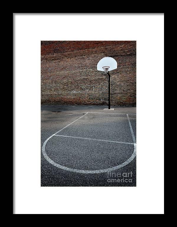Asphalt Framed Print featuring the photograph Urban Basketball Street Ball Outdoors by Lane Erickson
