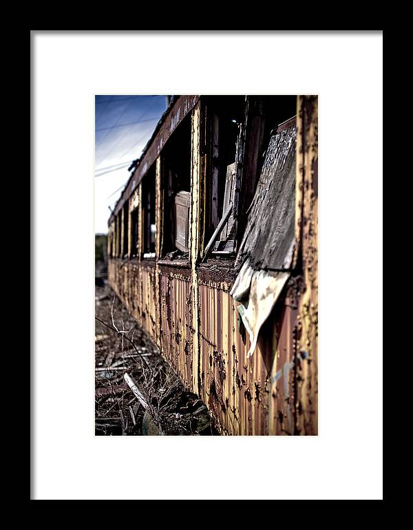 Art Framed Print featuring the photograph Urban Decay Train 2 by Edward Myers