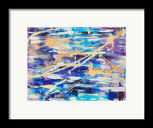 Abstract Framed Print featuring the painting Urban Footprint by Lauren Luna