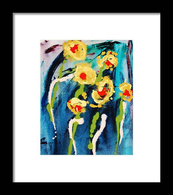 Abstract Framed Print featuring the painting Urban Garden by Lauren Luna