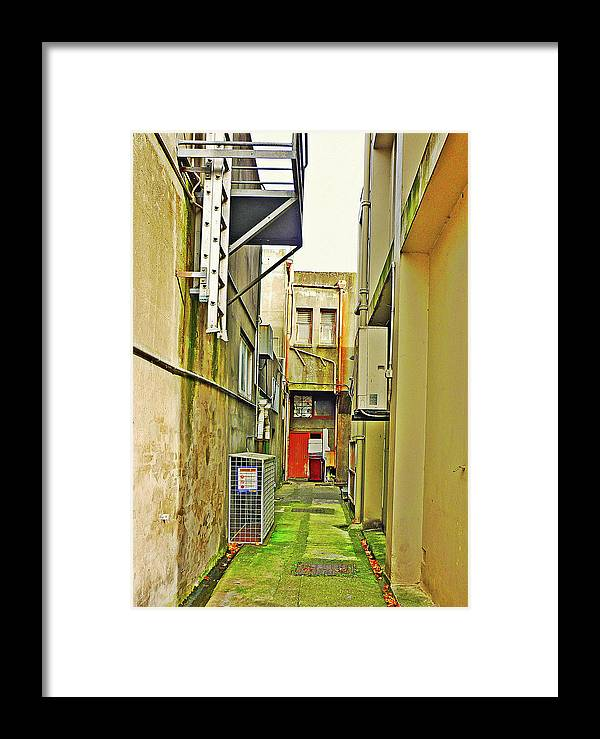 City Framed Print featuring the photograph Urban Landscape-blind Alley by Kenneth William Caleno