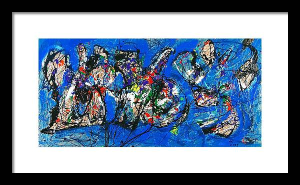 Abstract Framed Print featuring the painting Urban Landscape by Paul Freidin