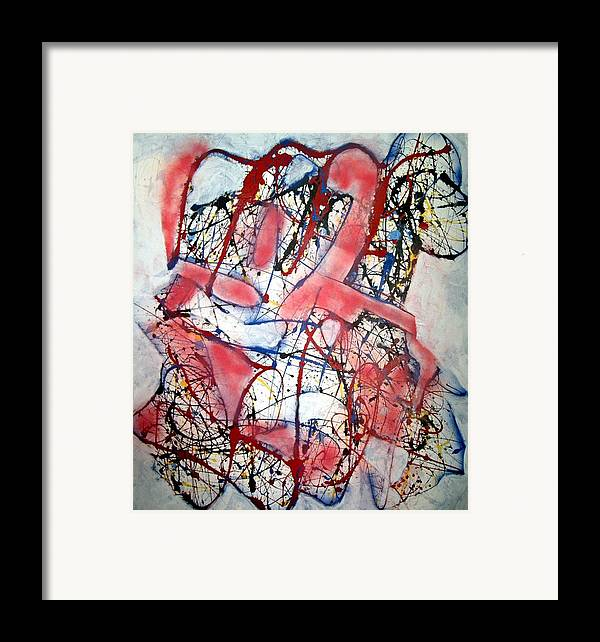 Abstract Framed Print featuring the painting Urban Legend by Paul Freidin