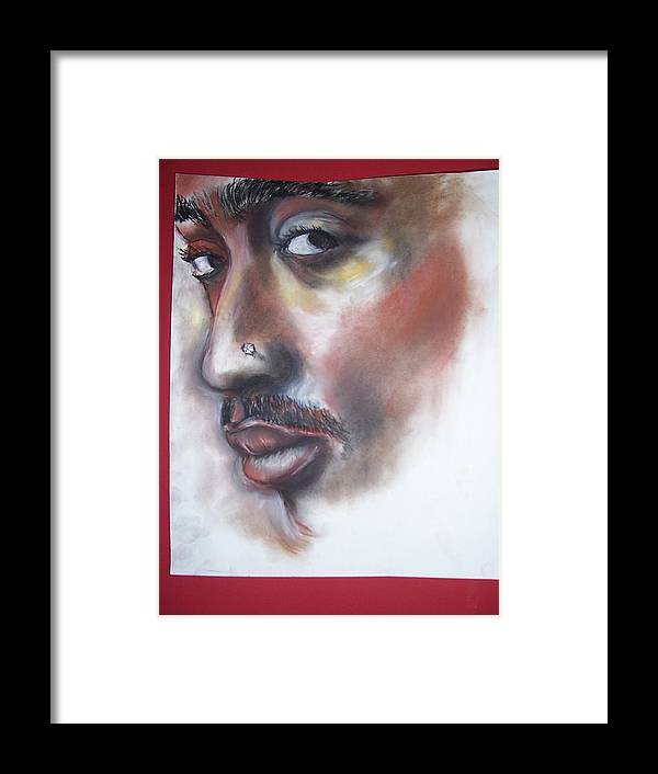Tupac Shakur Framed Print featuring the print Urban Poet by Darryl Hines