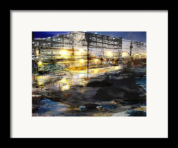 Mixed Media Framed Print featuring the mixed media Urban Renovation by Xavier Carter