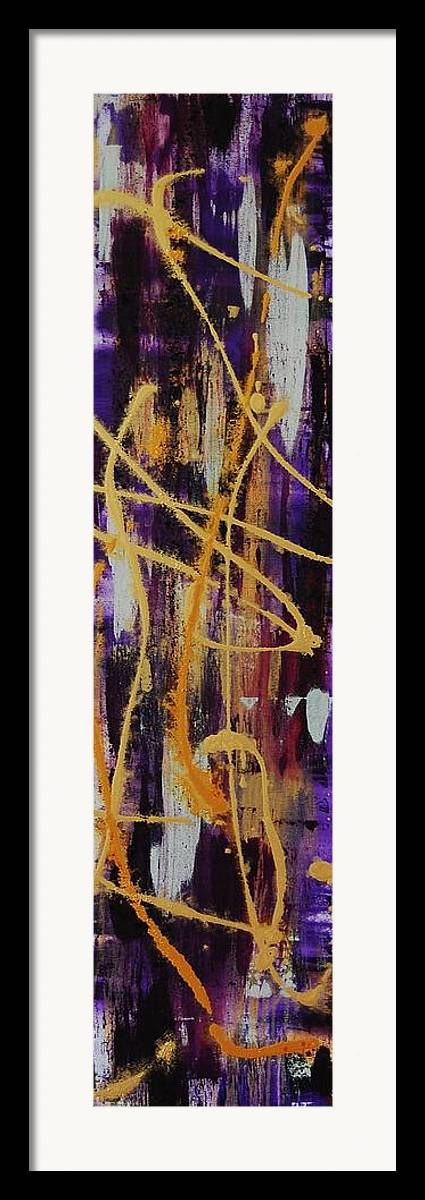 Abstract Framed Print featuring the painting Urban Royality by Lauren Luna