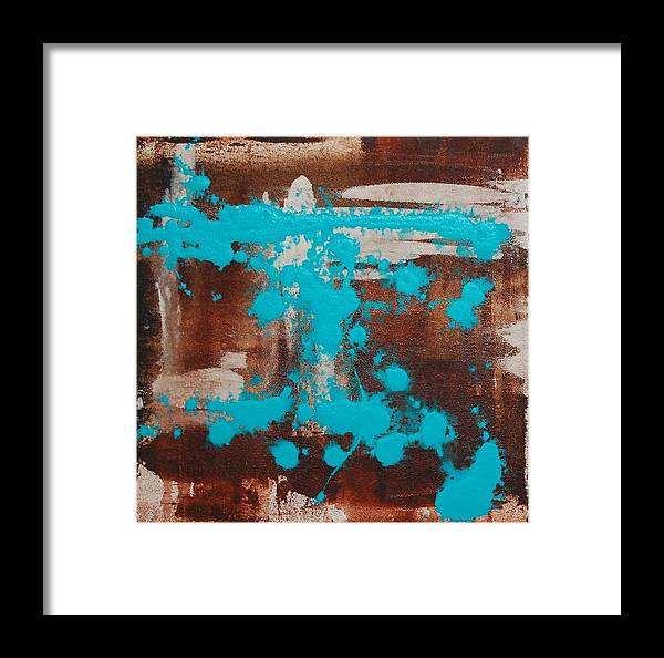 Diptech Framed Print featuring the painting Urbanesque I by Lauren Luna