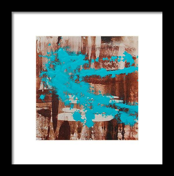 Urban Framed Print featuring the painting Urbanesque II by Lauren Luna