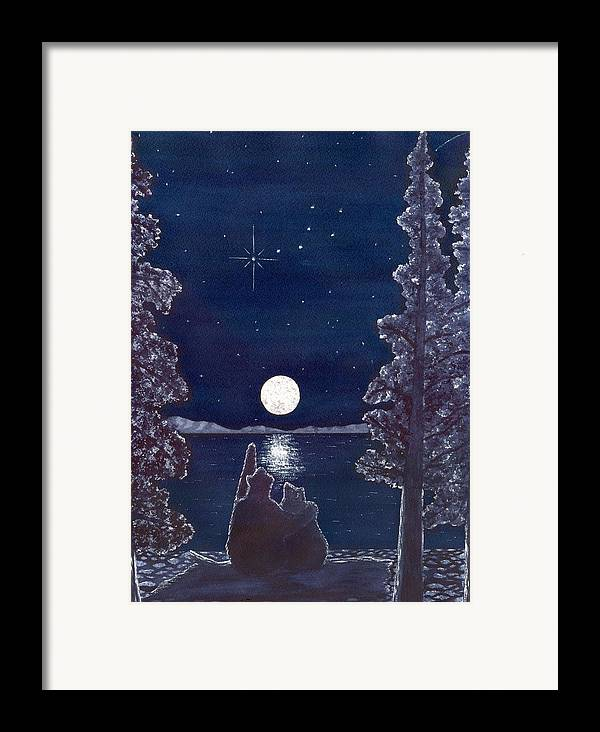 Bear Framed Print featuring the painting Ursa Minor by Catherine G McElroy