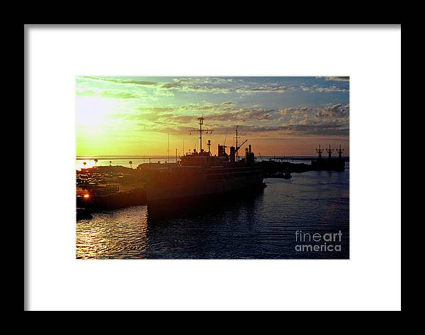 Sunrise Framed Print featuring the photograph Us Naval Station Mayport by Thomas R Fletcher