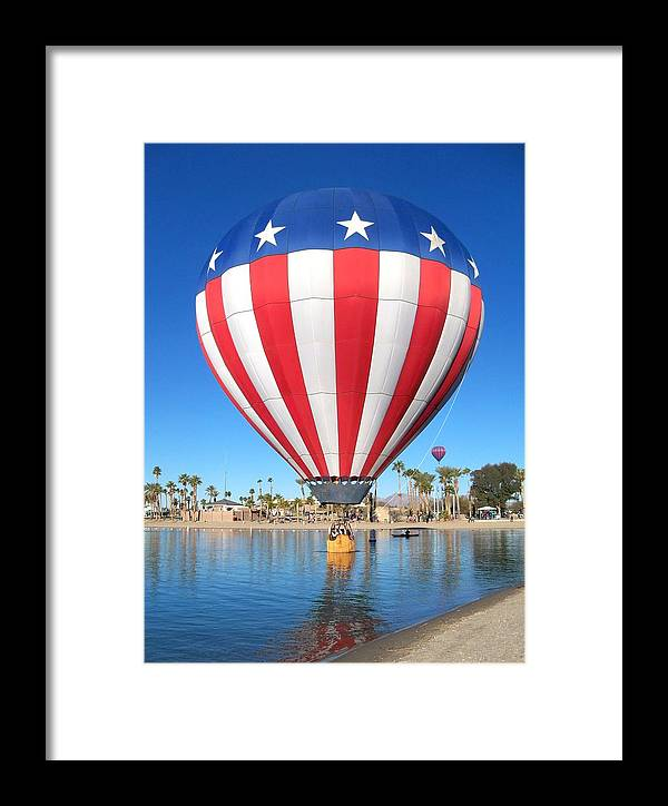 Hot Air Balloon Festival Framed Print featuring the photograph Usa Balloon by Adrienne Wilson