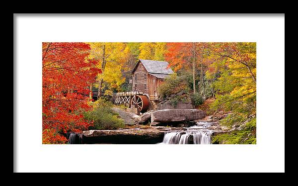 Photography Framed Print featuring the photograph Usa, West Virginia, Glade Creek Grist by Panoramic Images
