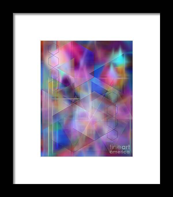 Usonian Dreams Framed Print featuring the digital art Usonian Dreams by John Beck