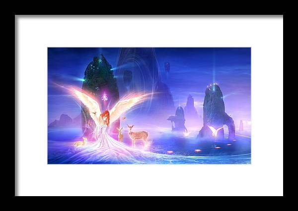 Philip Straub Framed Print featuring the painting Utherworlds Ooulana by Philip Straub
