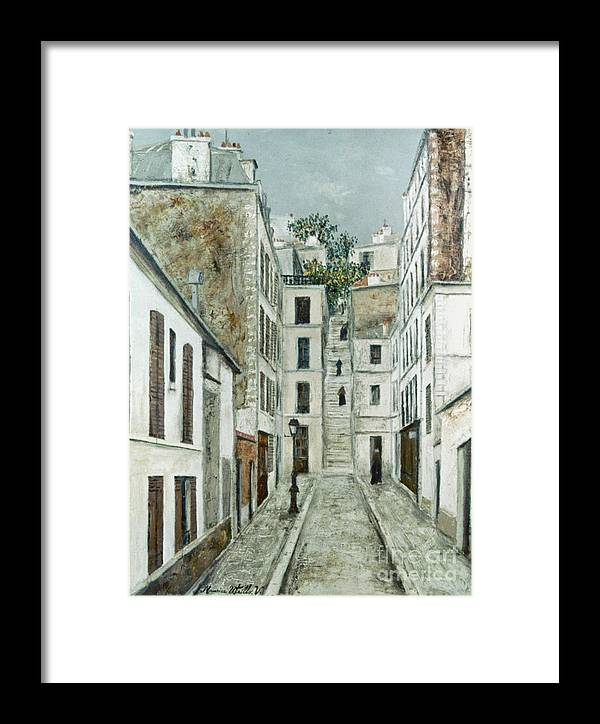 1911 Framed Print featuring the photograph Utrillo: Limpasse, 1911 by Granger
