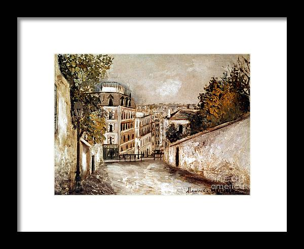 20th Century Framed Print featuring the photograph Utrillo: Montmartre, 20th C by Granger