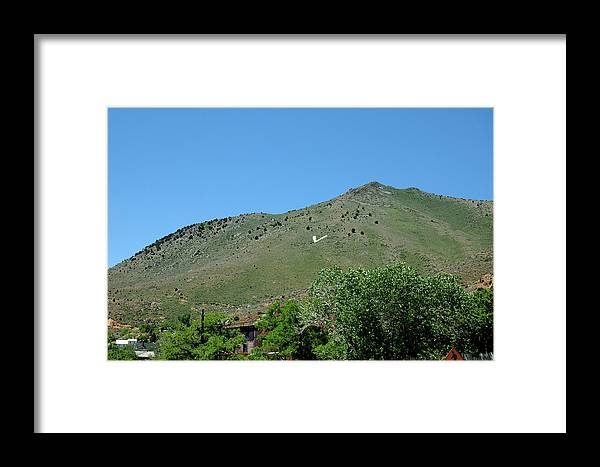 Usa Framed Print featuring the photograph V For Virginia City Nv Mail Drop by LeeAnn McLaneGoetz McLaneGoetzStudioLLCcom