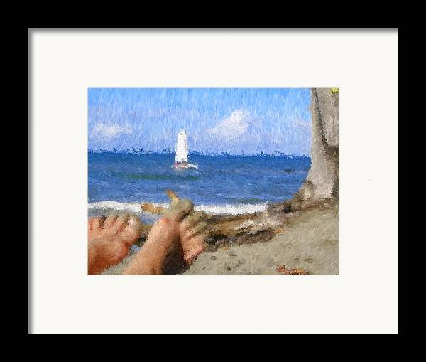 Framed Print featuring the painting Vacation by Jonathan Galente