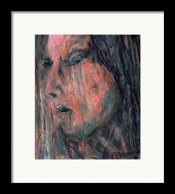 Crayon Framed Print featuring the painting Vail Of Tears by Todd Peterson