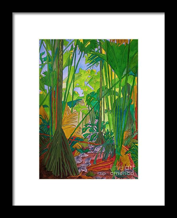 Watercolour Framed Print featuring the painting Val De Endore by Michaela Bautz