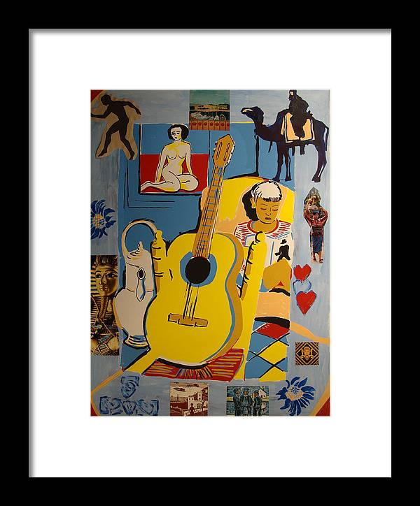 Framed Print featuring the painting Valencia Interior And Camel by Biagio Civale