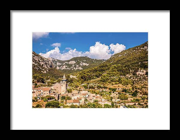 Valldemossa View Framed Print featuring the photograph Valldemossa View From The Town by Naylors Photography