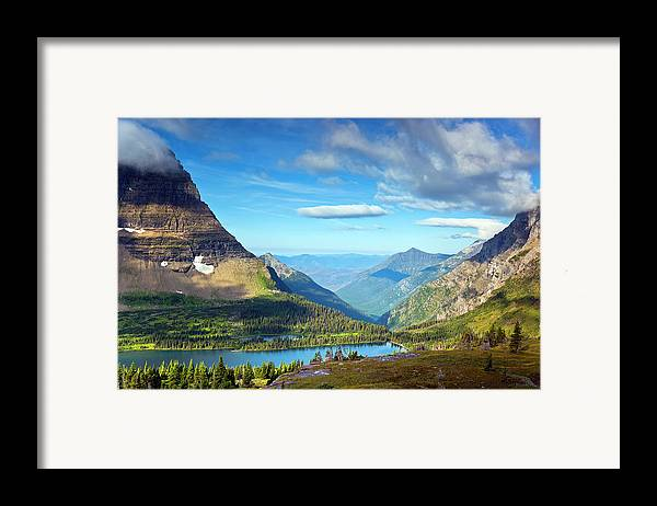 Horizontal Framed Print featuring the photograph Valley Beyond by Rebecca L. Latson