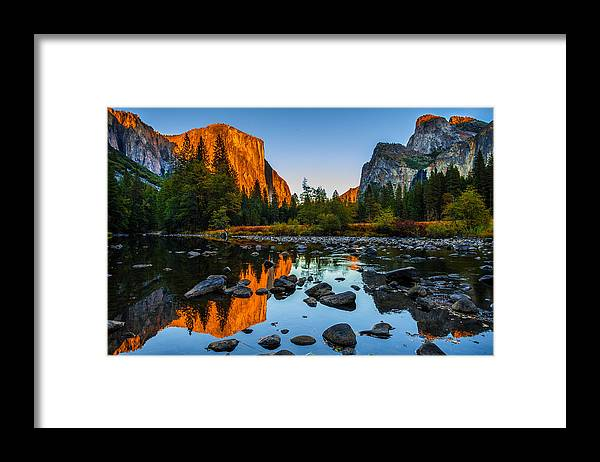 Valley View Yosemite National Park Framed Print By Scott Mcguire