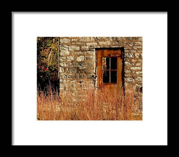 Limestone Framed Print featuring the photograph Valmeyer Limestone by Helen ONeal