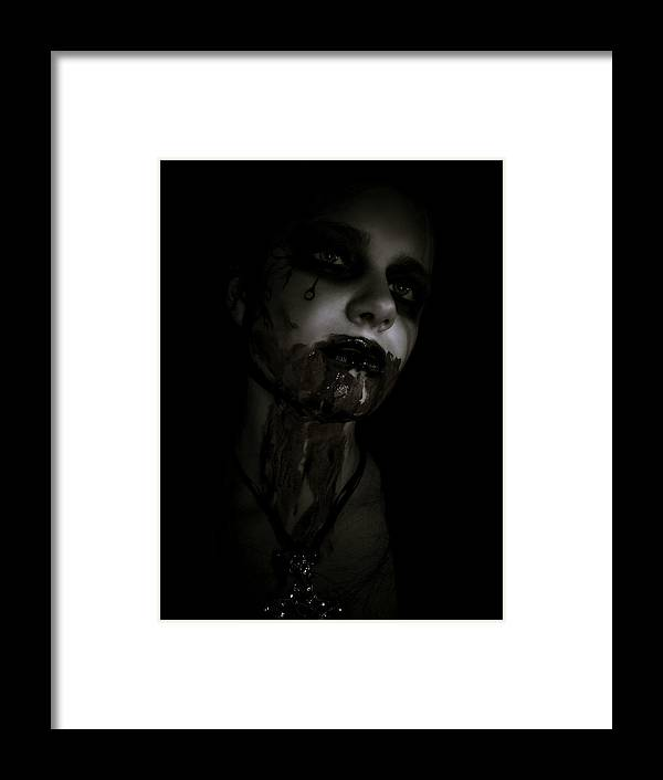 Vampire Framed Print featuring the photograph Vampire Feed 2 by Kelly Jade King
