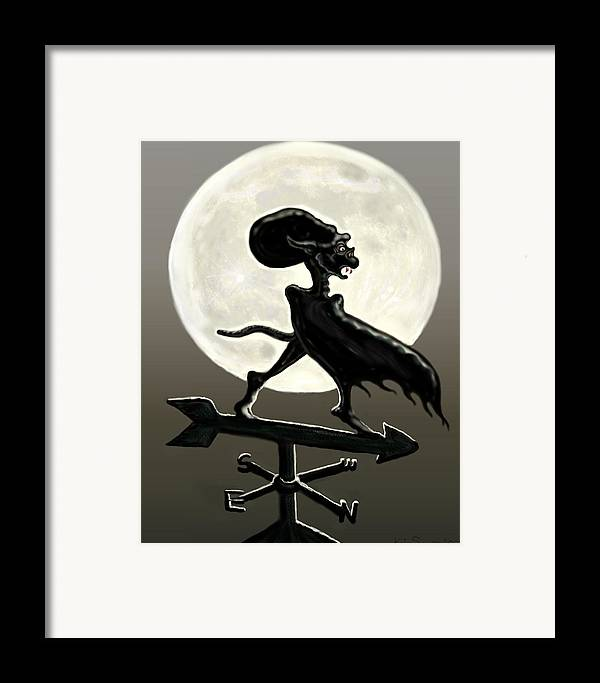 Vampires Framed Print featuring the painting Vampire Moon by Kim Souza