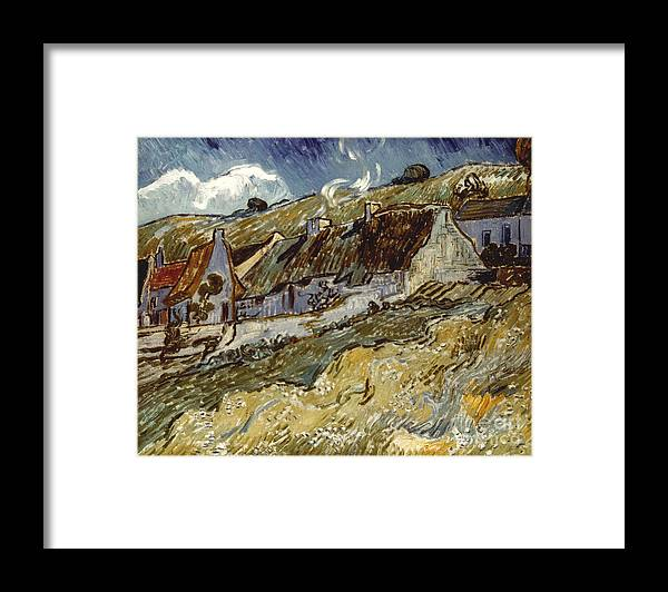 1890 Framed Print featuring the photograph Van Gogh: Cottages, 1890 by Granger