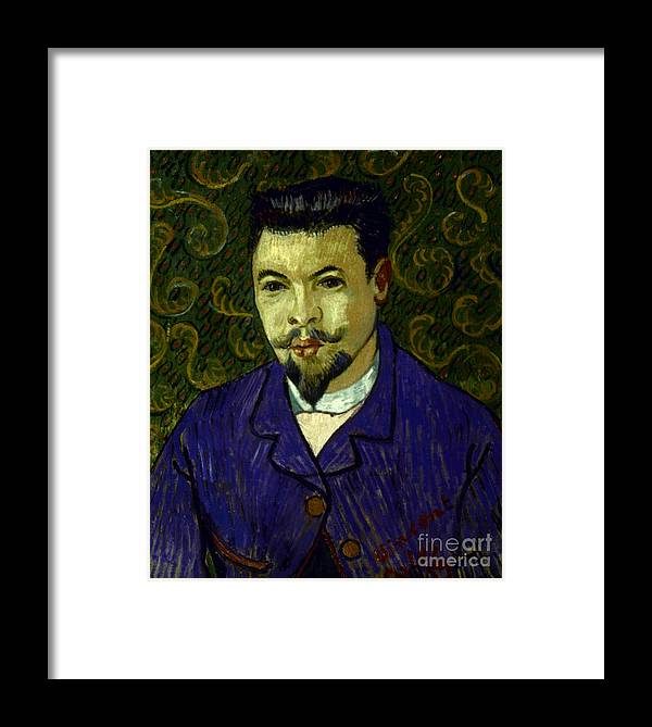 19th Century Framed Print featuring the photograph Van Gogh: Dr Rey, 19th C by Granger