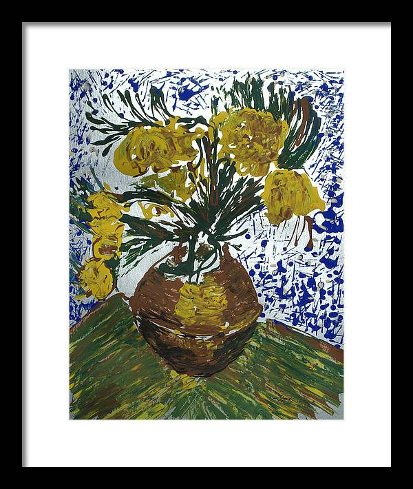 Flowers Framed Print featuring the painting Van Gogh by J R Seymour