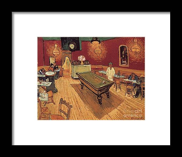 1888 Framed Print featuring the painting Van Gogh Night Cafe 1888 by Granger
