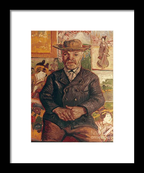 1887 Framed Print featuring the photograph Van Gogh: Pere Tanguy, 1887 by Granger