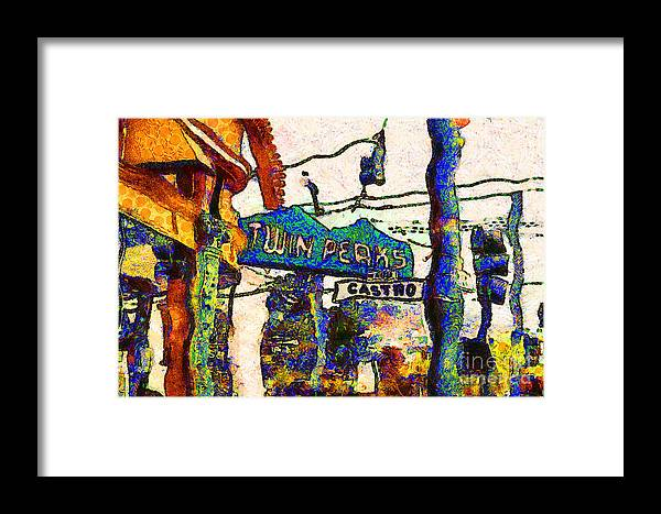 Cityscape Framed Print featuring the photograph Van Gogh Takes A Wrong Turn And Discovers The Castro In San Francisco . 7d7547 by Wingsdomain Art and Photography