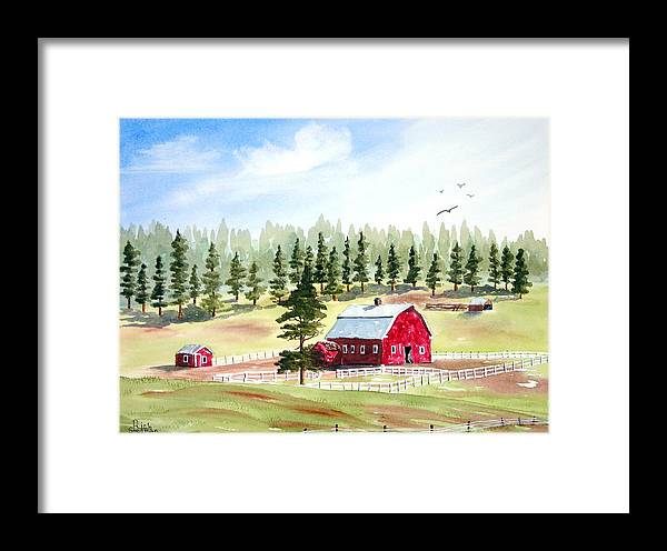 Landscape Framed Print featuring the painting Van Ocker Canyon by Rich Stedman