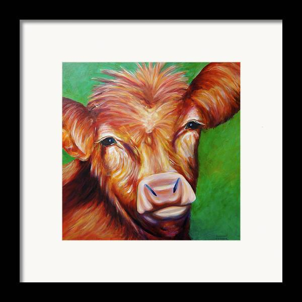 Bull Framed Print featuring the painting Van by Shannon Grissom