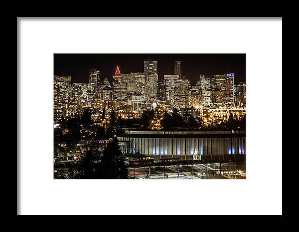 Vancouver Framed Print featuring the photograph Vancouver Lights by Brigitte Mueller