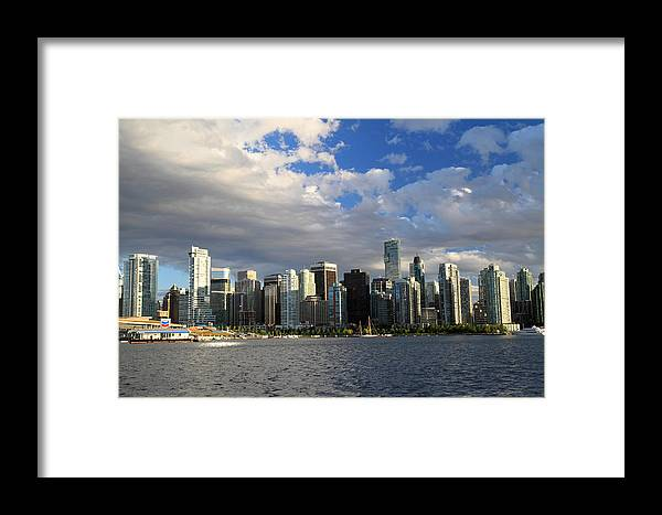 Vancouver Framed Print featuring the photograph Vancouver Sunset From Stanley Park by Pierre Leclerc Photography