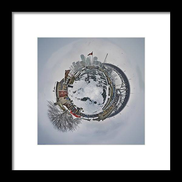 Vancouver Framed Print featuring the photograph Vancouver Winter Planet by Mauricio Ricaldi