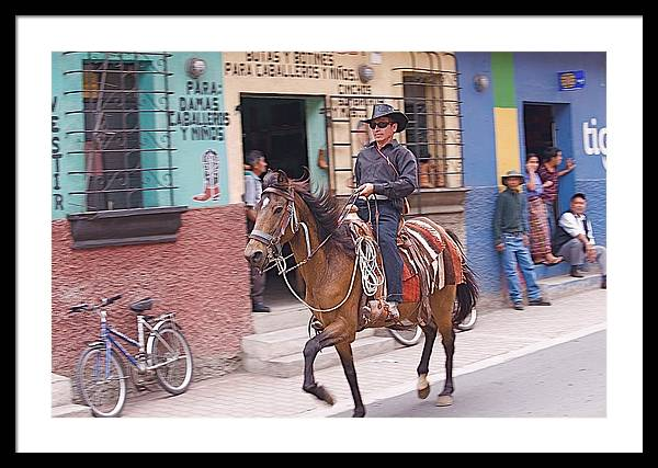Cowboy Framed Print featuring the photograph Vaquero En Pastores by Joseph Cosby