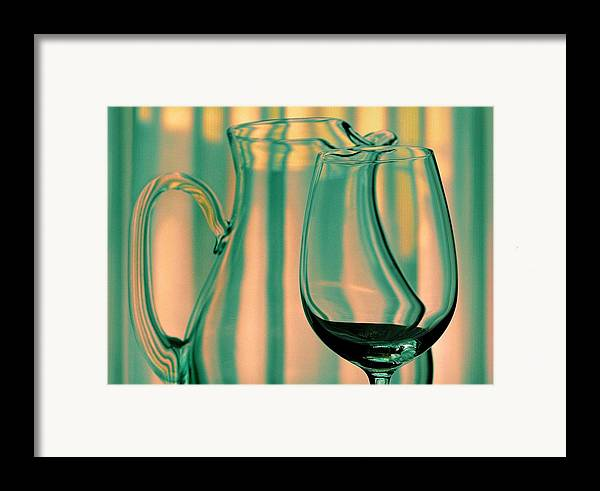 Still Life Framed Print featuring the photograph Vase And Glass by Dan Holm