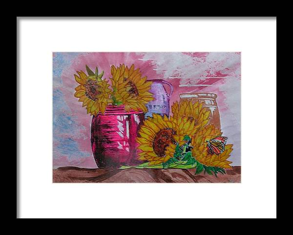 Floral Framed Print featuring the painting Vases With Flowers by John Vandebrooke