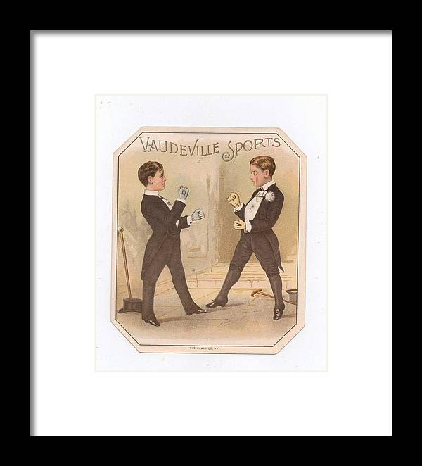 Framed Print featuring the drawing Vaudville Sports by Carol Burnworth