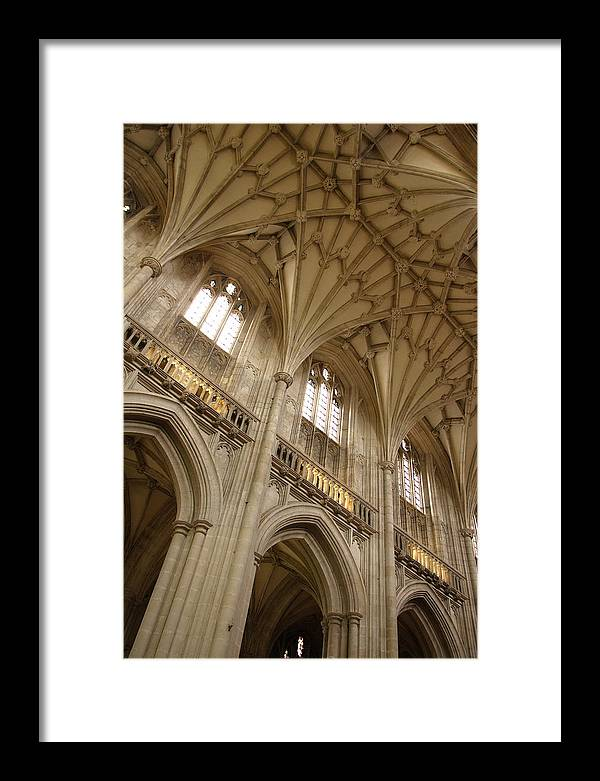 Winchester Cathedral Framed Print featuring the photograph Vaulted Ceiling by Michael Hudson