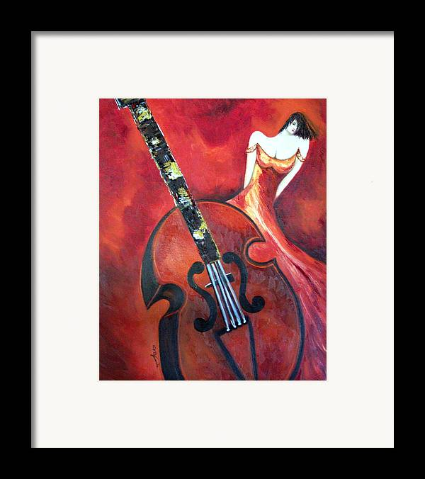 Music Framed Print featuring the painting Ve La Musica by Niki Sands