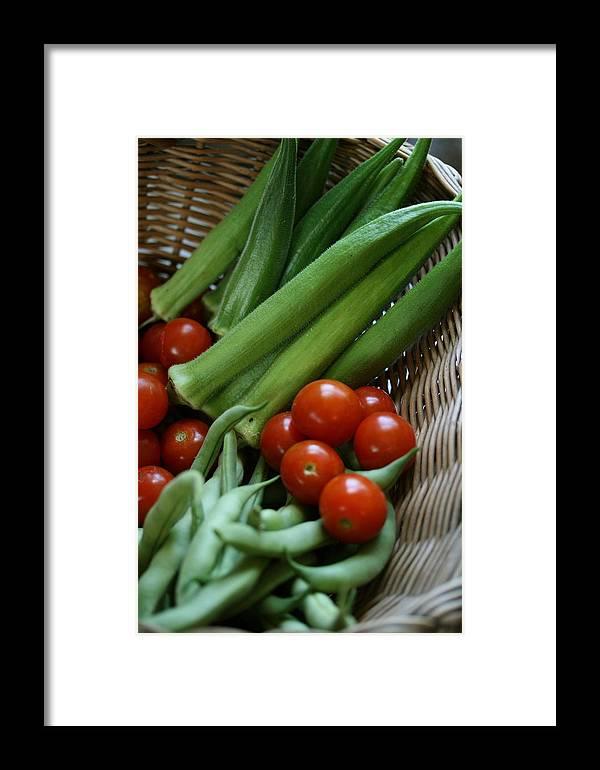 Okra Framed Print featuring the photograph Vegetable Basket by Karen Fowler